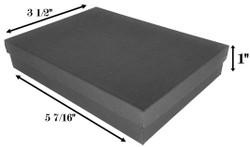 """Black Kraft Cotton Filled Boxes - 5 7/16"""" x 3 1/2"""" x 1""""H - (10 Pcs)"""
