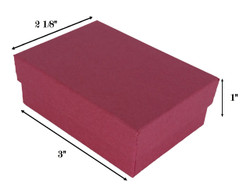 "Red Kraft Cotton Filled Boxes - 3"" x 2 1/8"" x 1""H"