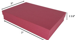 "Red Kraft Cotton Filled Boxes - 7"" x 5"" x 1 1/4""H"