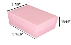 "Pink Kraft Cotton Filled Boxes - 2 7/16"" x 1 5/8"" x 13/16""H"