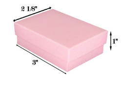 "Pink Kraft Cotton Filled Boxes - 3"" x 2 1/8"" x 1""H"
