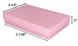 "Pink Kraft Cotton Filled Boxes - 5 7/16"" x 3 1/2"" x 1""H"