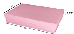 "Pink Kraft Cotton Filled Boxes - 7"" x 5"" x 1 1/4""H"