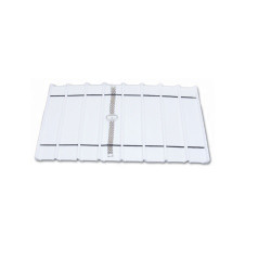 White leatherette 8 Section Deluxe bracelet insert liners