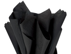 "Black Tissue Paper 15"" x 20"" - 50 Sheets"