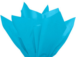 """Turquoise Tissue Paper 15"""" x 20"""" - 50 Sheets"""