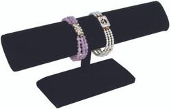 Black Velvet wide Oval T Bar