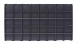 Black Faux Leather 40 Section Deluxe Tray Insert