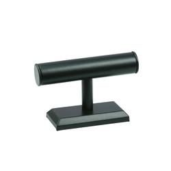 """Black Leatherette Bracelet Display 5""""H T Bar"""