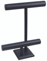 Black Leatherette Off Set Tall T Bar