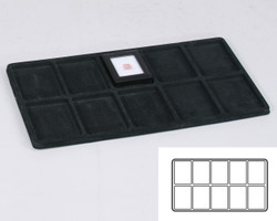 Black 10 Compartment Flocked Tray Insert Tray Liner