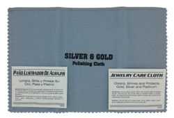 "11""x14"" Grey/White Jewelry Polishing Cloth"