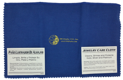 "12""x15"" Blue/Yellow Jewelry Polishing Cloth"
