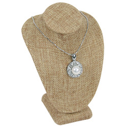 "Burlap Classic Style Necklace Display 6 1/4""H"