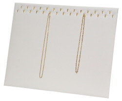 29 Hooks White Necklace Display Easel Stand