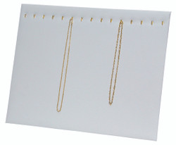 15 Hooks White Necklace Display Easel Stand