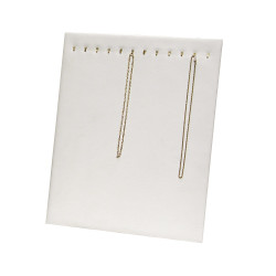 12 Hooks White Necklace Display Easel Stand