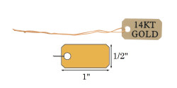 "1/2"" x 1"" Pre-Printed ""14KT GOLD"" String Tags - 100Pcs"