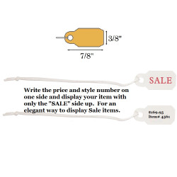 "3/8"" x 7/8"" Pre-Printed ""SALE"" Plastic String Tags"