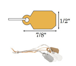 "1/2"" x 7/8"" Plain Gold Plastic String Tags"