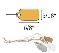 "5/16"" x 5/8""  Gold Plastic Jewelry String Tags"