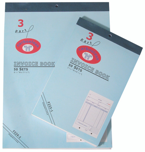 Large Part Invoice Books Display USA Inc - 3 part invoice book