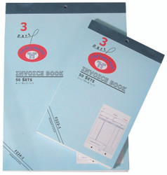 X-Large 3-Part Invoice Books