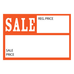 "Small Paper ""Sale Reg.Price - Sale Price"" Store Message Sign (50Pcs/Pack)"