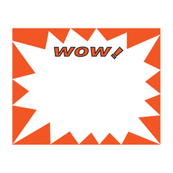 "Large Paper ""WOW!"" Store Message Signs (50Pcs/Pack)- 7""W x 5 1/2""L"