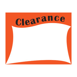 "Large Paper ""Clearance"" Store Message Signs (50Pcs/Pack)- 7""W x 5 1/2""L"