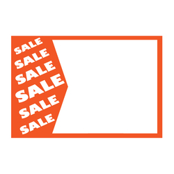 "Large Paper ""Sale Sale Sale"" Store Message Signs (50Pcs/Pack)- 7""W x 5 1/2""L"