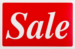 "Plastic ""Sale"" Store Message Sign 11""W x 7""L"