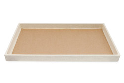 "1 1/2"" Deluxe Linen Standard Utility Trays - 14 3/4"" x 8 1/4"""