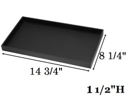 "1 1/2"" Deep Standard Black Utility Trays"