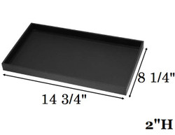 "2"" Deep Standard Black Utility Trays"