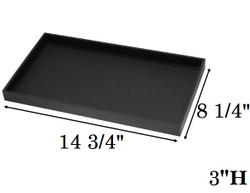 "3"" Deep Standard Black Utility Trays"