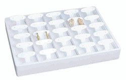 Stackable 25 Pair Showcase Short Earring Tree Display Tray