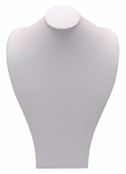White Wide Shoulder Necklace Display