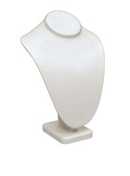 "10""H White Classic Style Necklace Display"