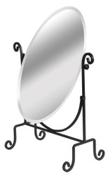 Adjustable Mirror with Black Metal Base (Oval)
