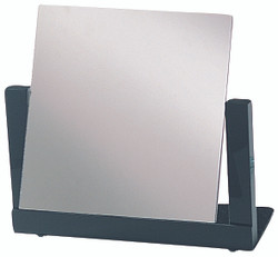 Black Finish Square Glass Mirror (Til-table)