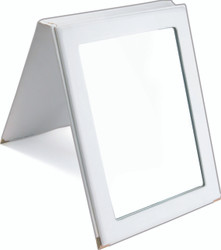 Portable White Snap Folding Mirror