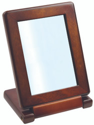 Heavy duty Vintage Faux Wood Small Folding Mirror