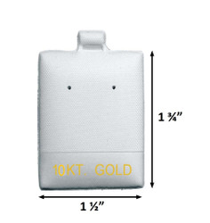 """10 KT. Gold"" Printed White Vinyl Puff Pads - 1 1/2"" x 1 3/4"""