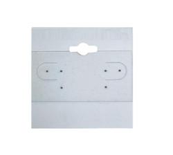 "Grey Plain Hanging Earring Cards - 1 1/2"" x 1 1/2"""
