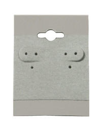 "Grey Plain Hanging Earring Cards - 1 1/2"" x 2"""