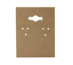 "Kraft Plain Hanging Earring Cards - 1 1/2"" x 2"""