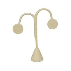 """Beige Linen Single Earring Display Tear Drop Shape 4 3/4""""H"""