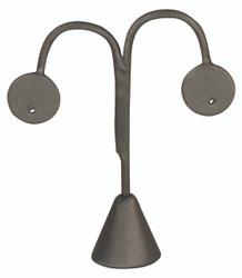 """Steel Grey Single Earring Display Tear Drop Shape 6 1/4""""H"""