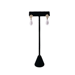 "Black Single Earring T-Stand 5 3/4""H Display"